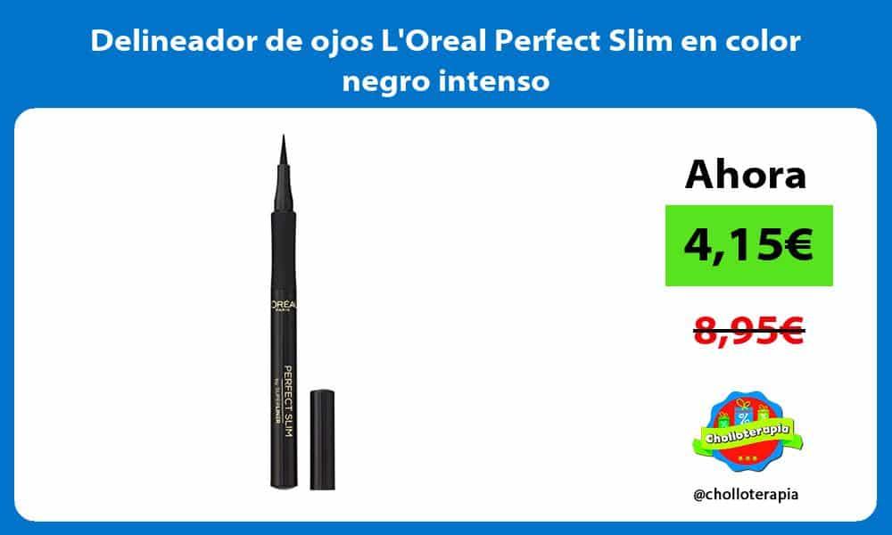 Delineador de ojos LOreal Perfect Slim en color negro intenso