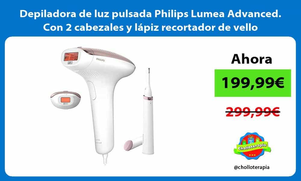 Depiladora de luz pulsada Philips Lumea Advanced Con 2 cabezales y lápiz recortador de vello