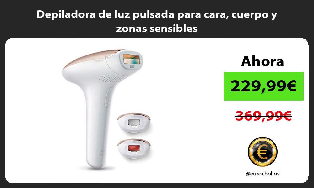 Depiladora de luz pulsada para cara cuerpo y zonas sensibles
