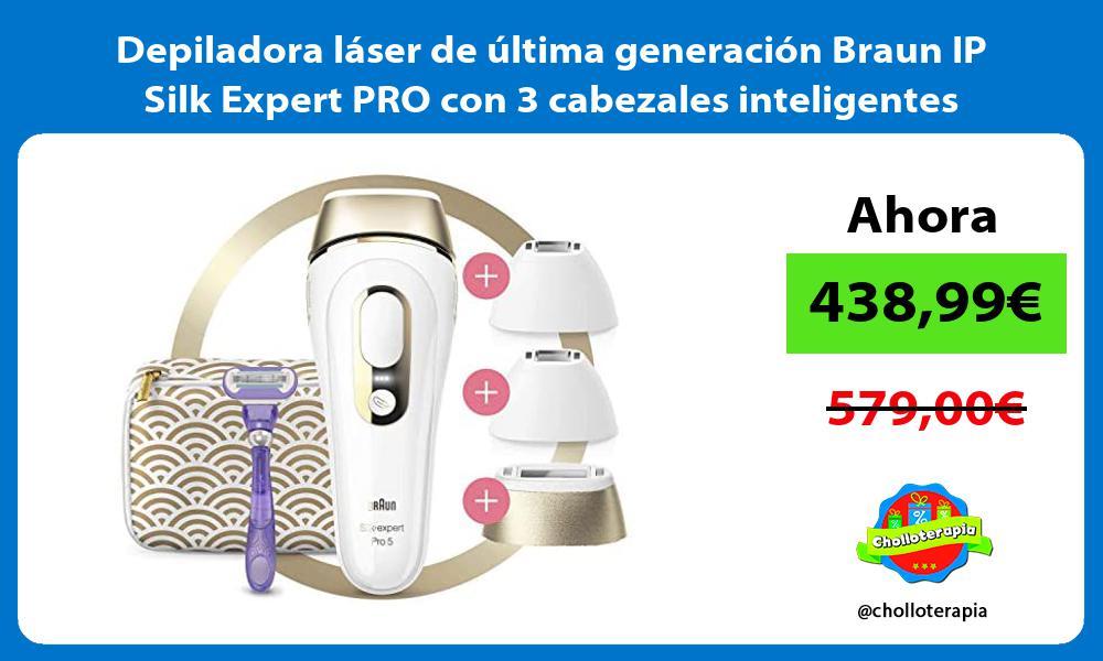 Depiladora láser de última generación Braun IP Silk Expert PRO con 3 cabezales inteligentes