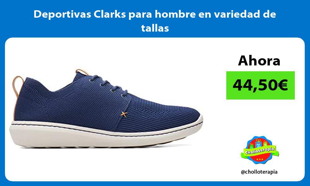 Deportivas Clarks para hombre en variedad de tallas