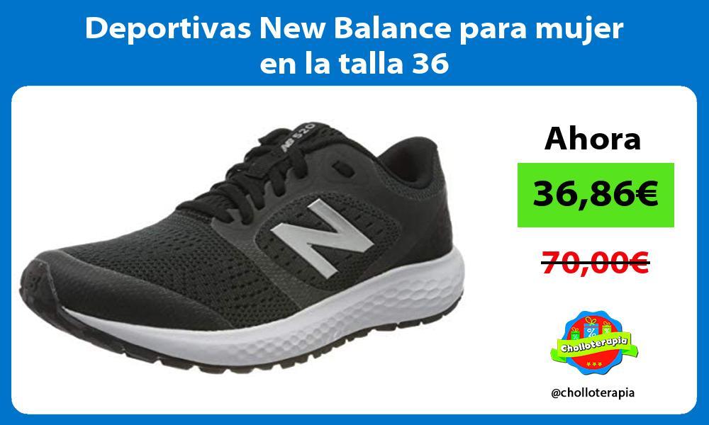 Deportivas New Balance para mujer en la talla 36