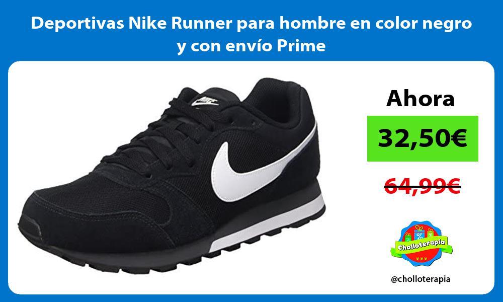 Deportivas Nike Runner para hombre en color negro y con envío Prime