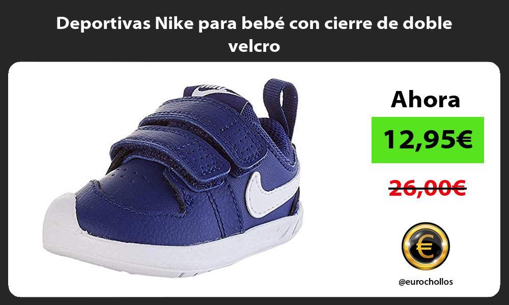 Deportivas Nike para bebé con cierre de doble velcro