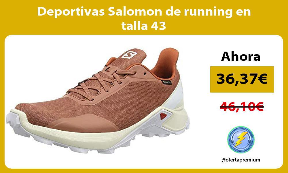 Deportivas Salomon de running en talla 43
