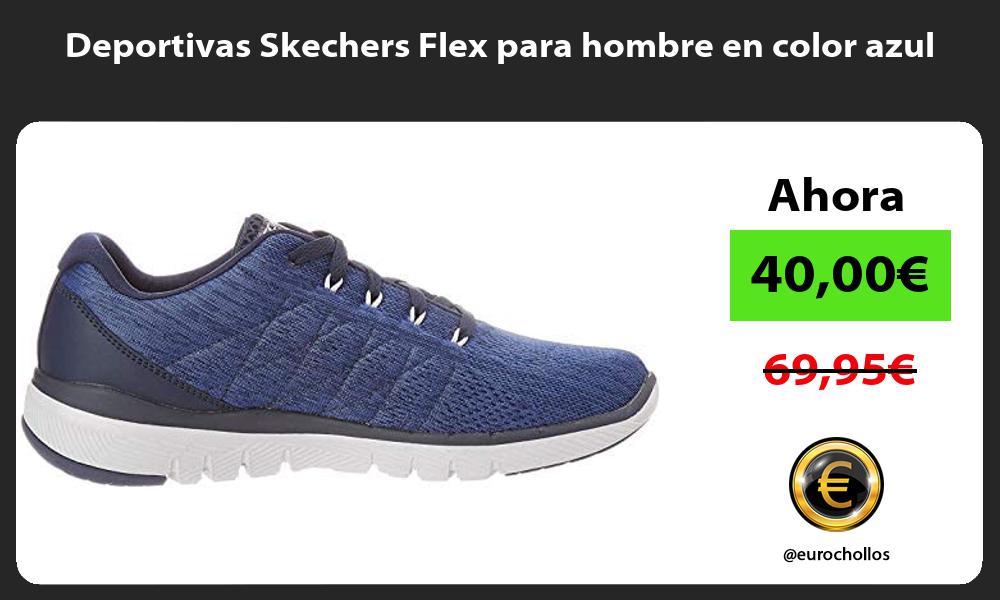 Deportivas Skechers Flex para hombre en color azul