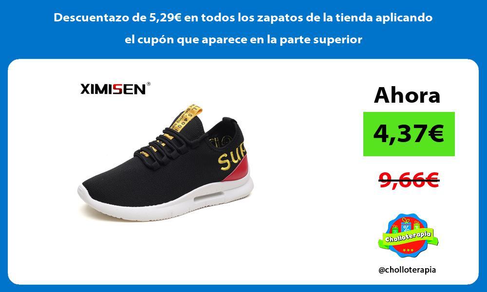 Descuentazo de 529€ en todos los zapatos de la tienda aplicando el cupón que aparece en la parte superior