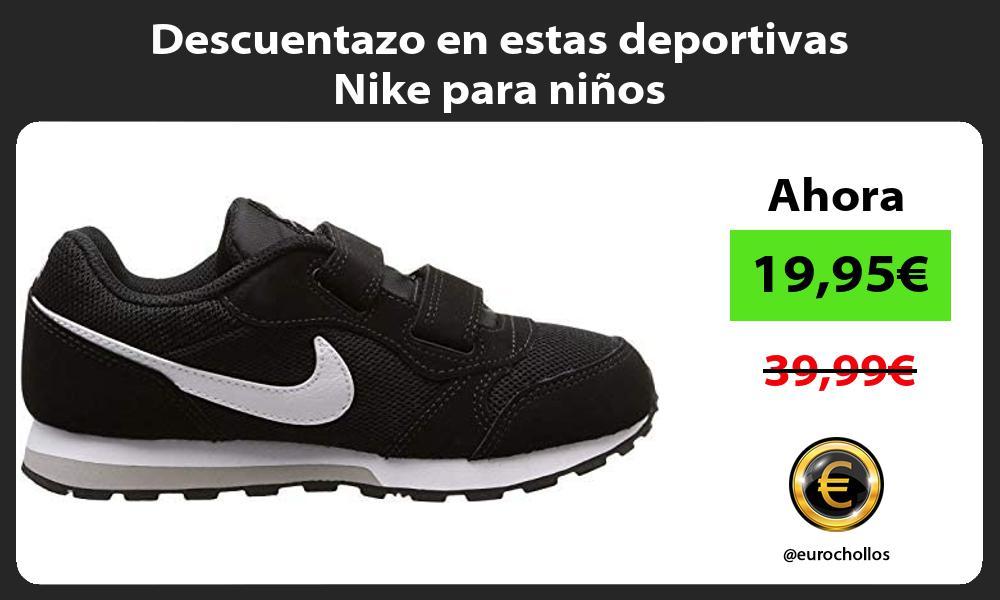 Descuentazo en estas deportivas Nike para niños