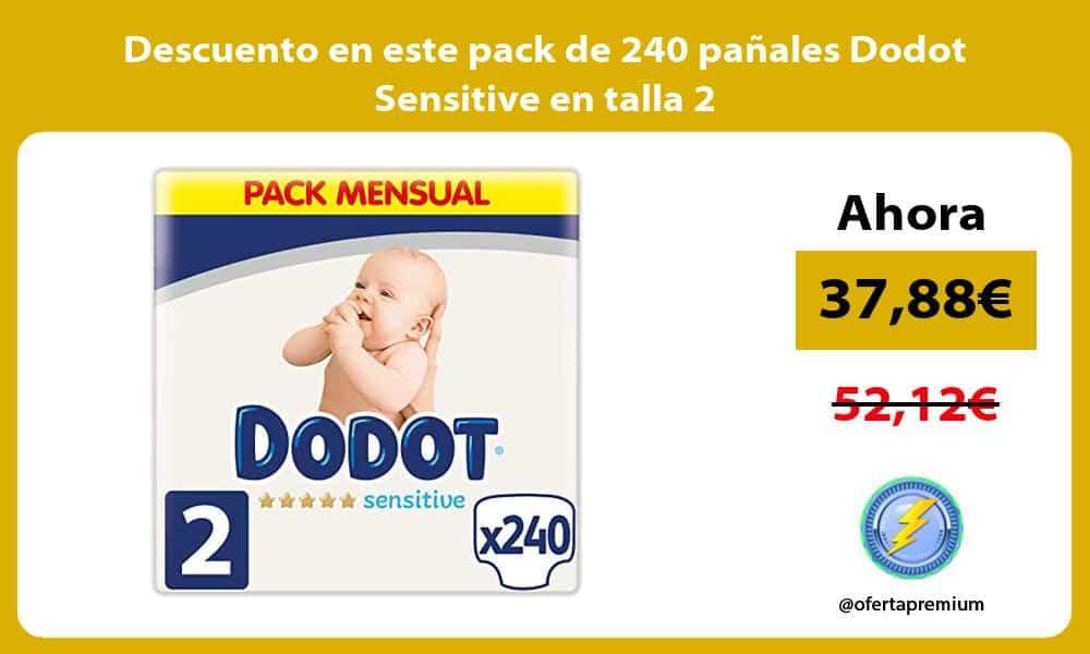 Descuento en este pack de 240 pañales Dodot Sensitive en talla 2