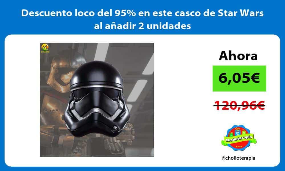Descuento loco del 95 en este casco de Star Wars al añadir 2 unidades