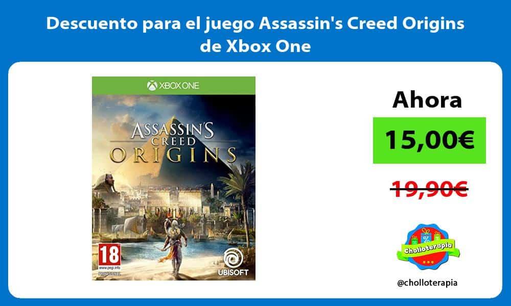 Descuento para el juego Assassins Creed Origins de Xbox One