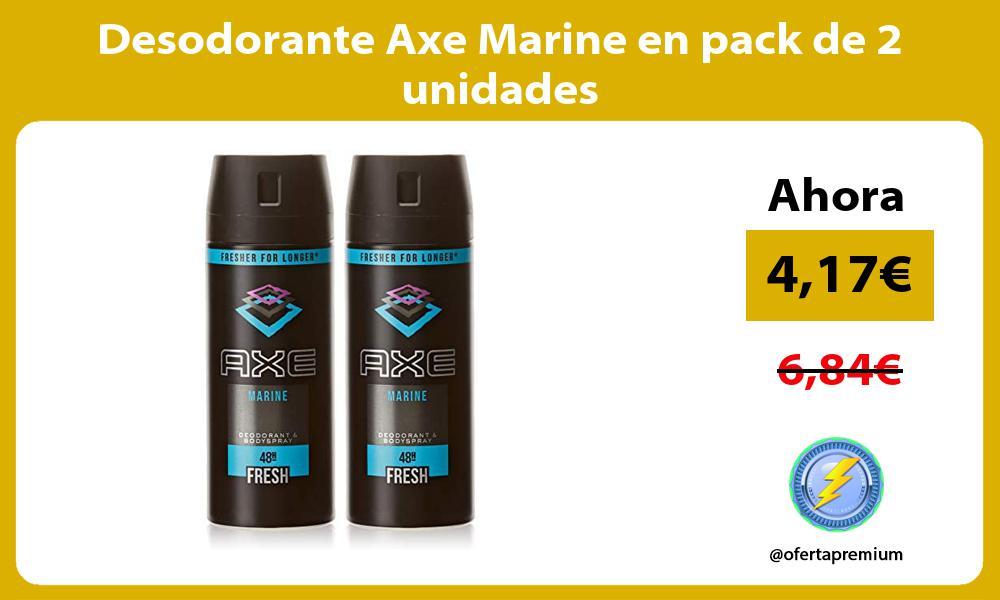 Desodorante Axe Marine en pack de 2 unidades