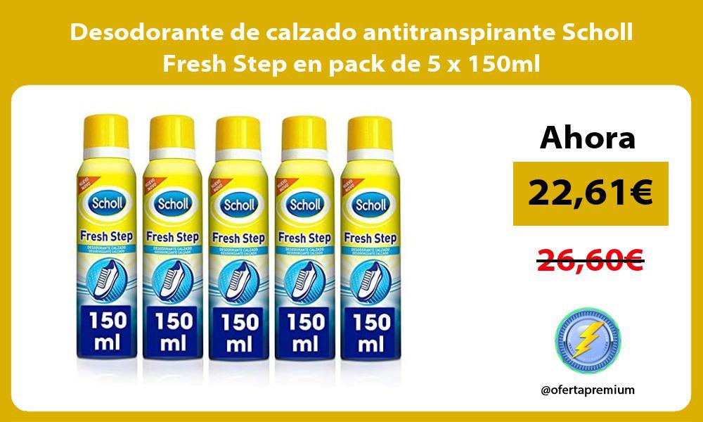 Desodorante de calzado antitranspirante Scholl Fresh Step en pack de 5 x 150ml