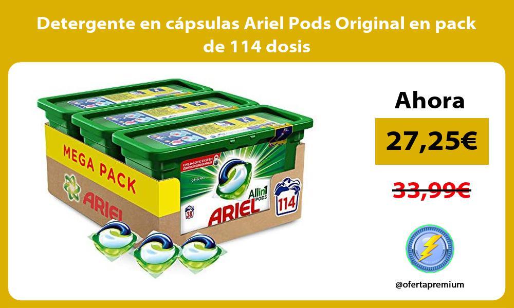Detergente en cápsulas Ariel Pods Original en pack de 114 dosis