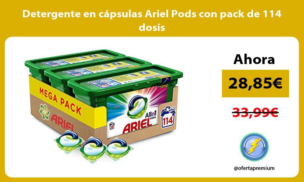 Detergente en cápsulas Ariel Pods con pack de 114 dosis