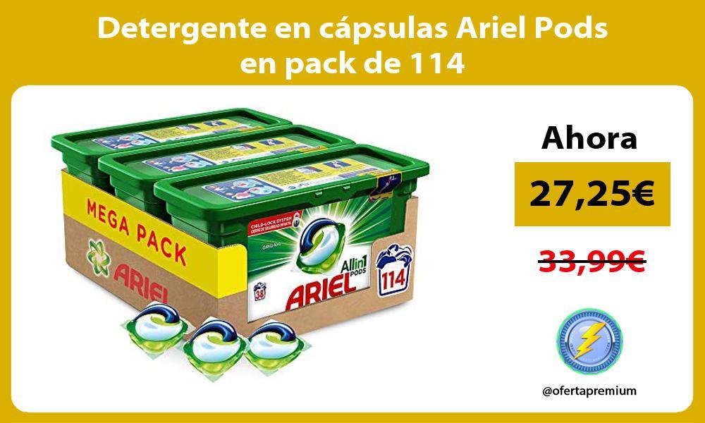 Detergente en cápsulas Ariel Pods en pack de 114