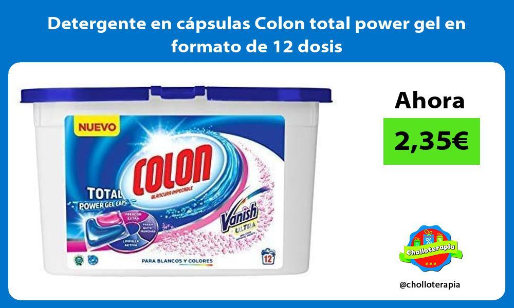 Detergente en cápsulas Colon total power gel en formato de 12 dosis