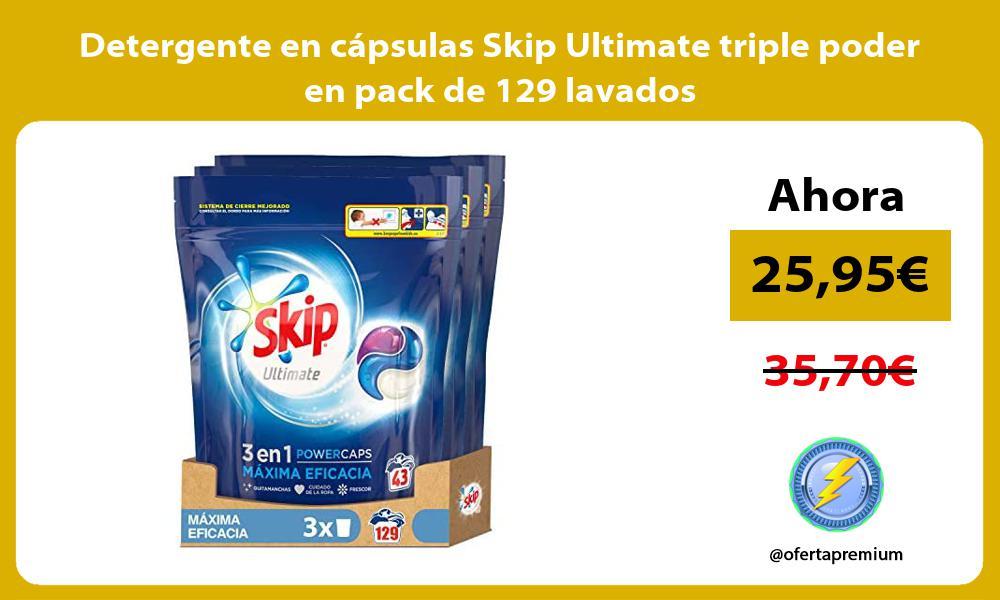 Detergente en cápsulas Skip Ultimate triple poder en pack de 129 lavados