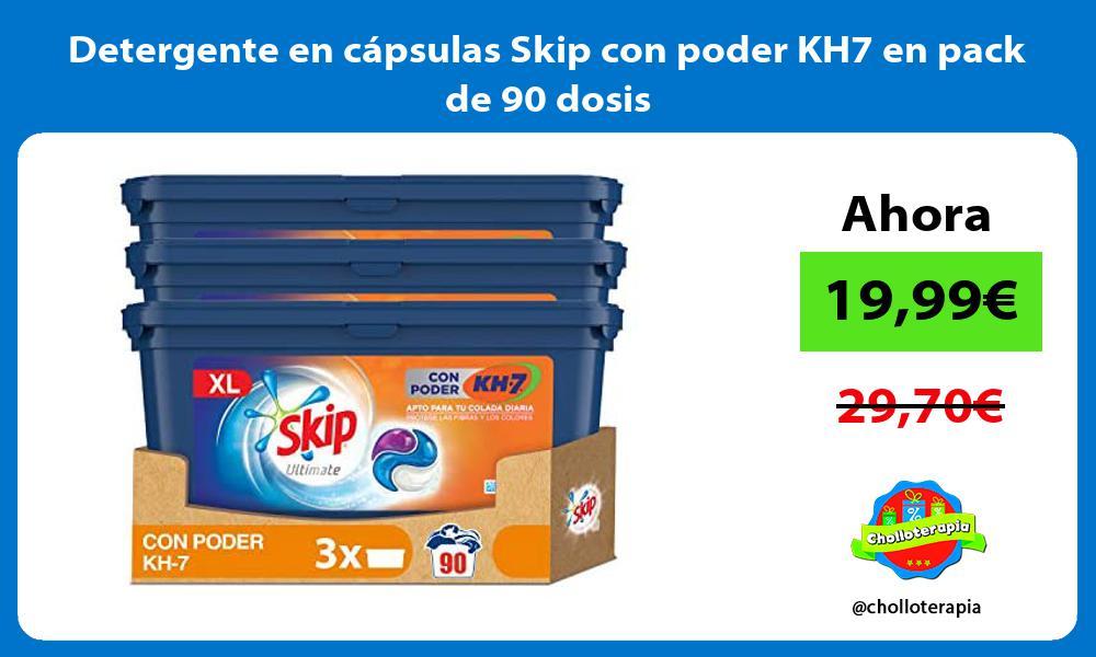 Detergente en cápsulas Skip con poder KH7 en pack de 90 dosis