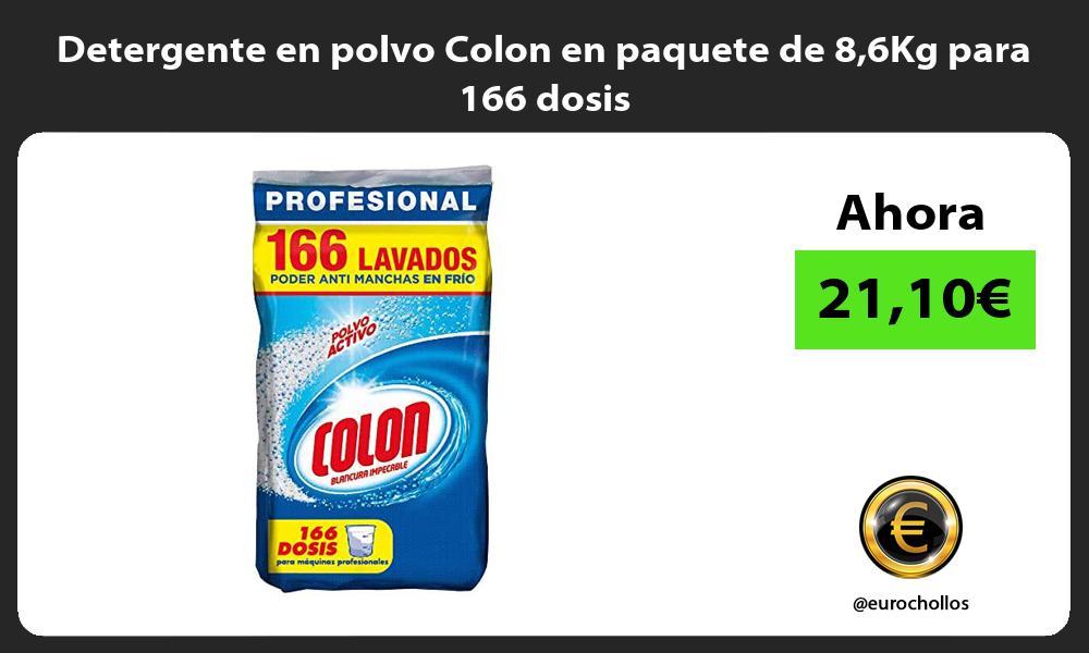Detergente en polvo Colon en paquete de 86Kg para 166 dosis