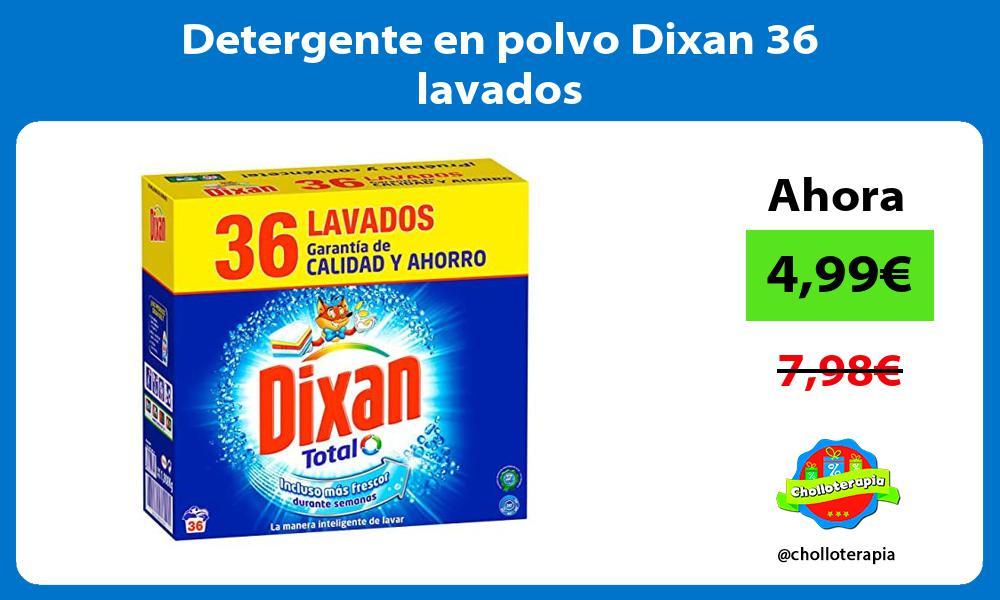 Detergente en polvo Dixan 36 lavados