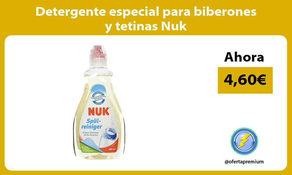 Detergente especial para biberones y tetinas Nuk