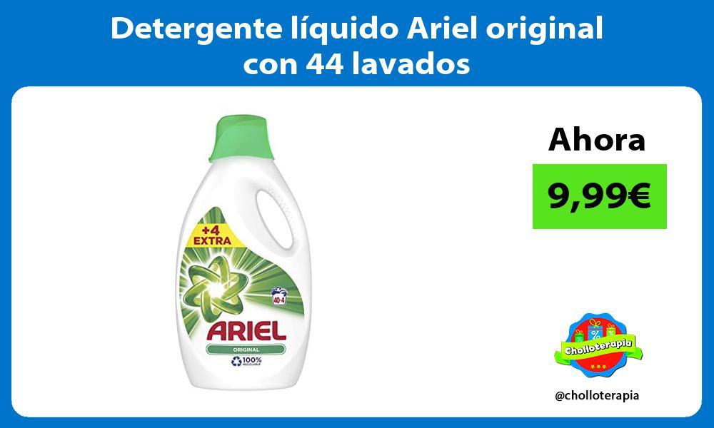 Detergente líquido Ariel original con 44 lavados