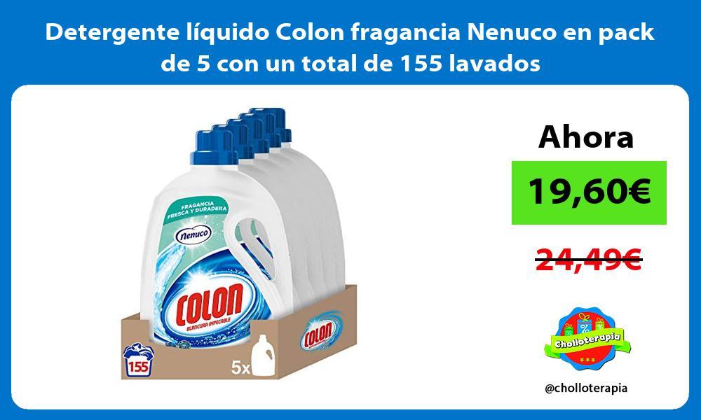 Detergente líquido Colon fragancia Nenuco en pack de 5 con un total de 155 lavados