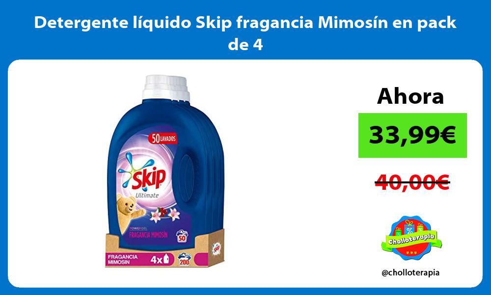 Detergente líquido Skip fragancia Mimosín en pack de 4