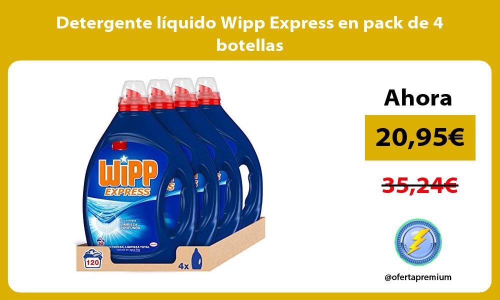 Detergente líquido Wipp Express en pack de 4 botellas