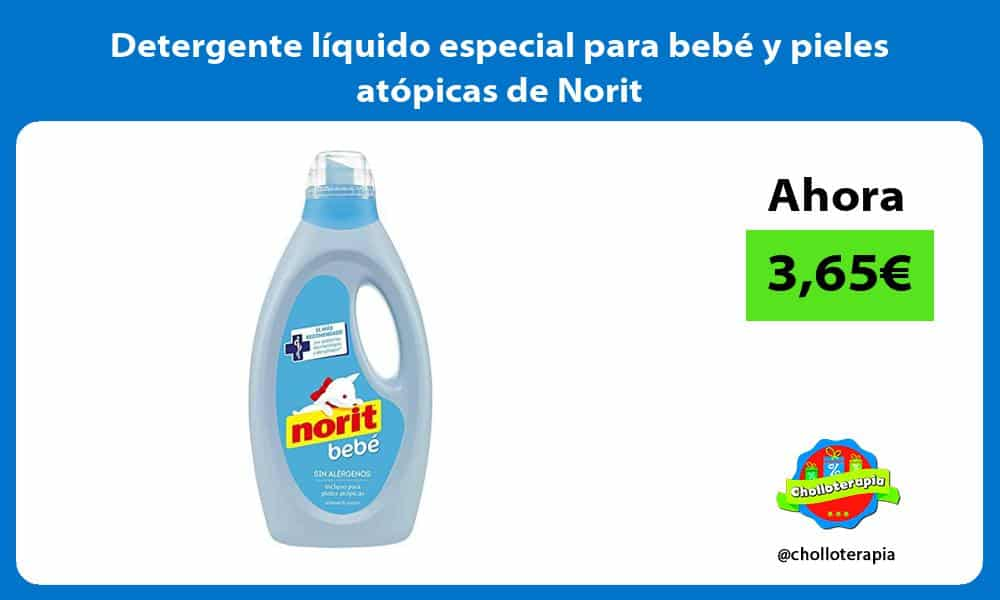 Detergente líquido especial para bebé y pieles atópicas de Norit