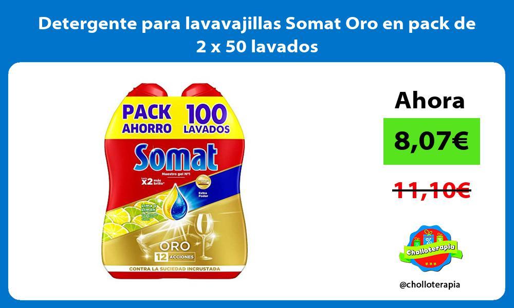 Detergente para lavavajillas Somat Oro en pack de 2 x 50 lavados