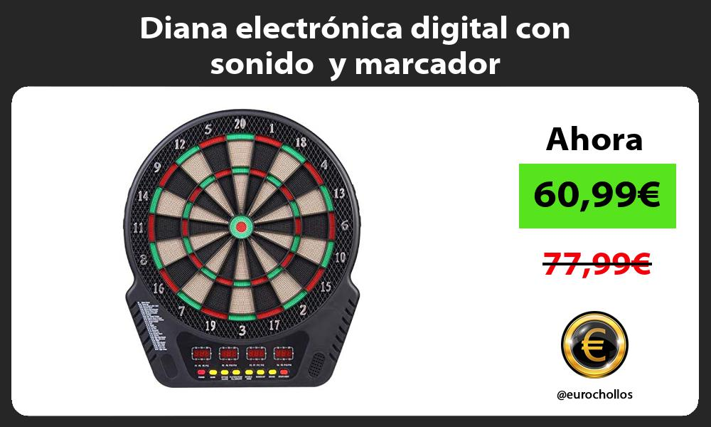 Diana electrónica digital con sonido y marcador