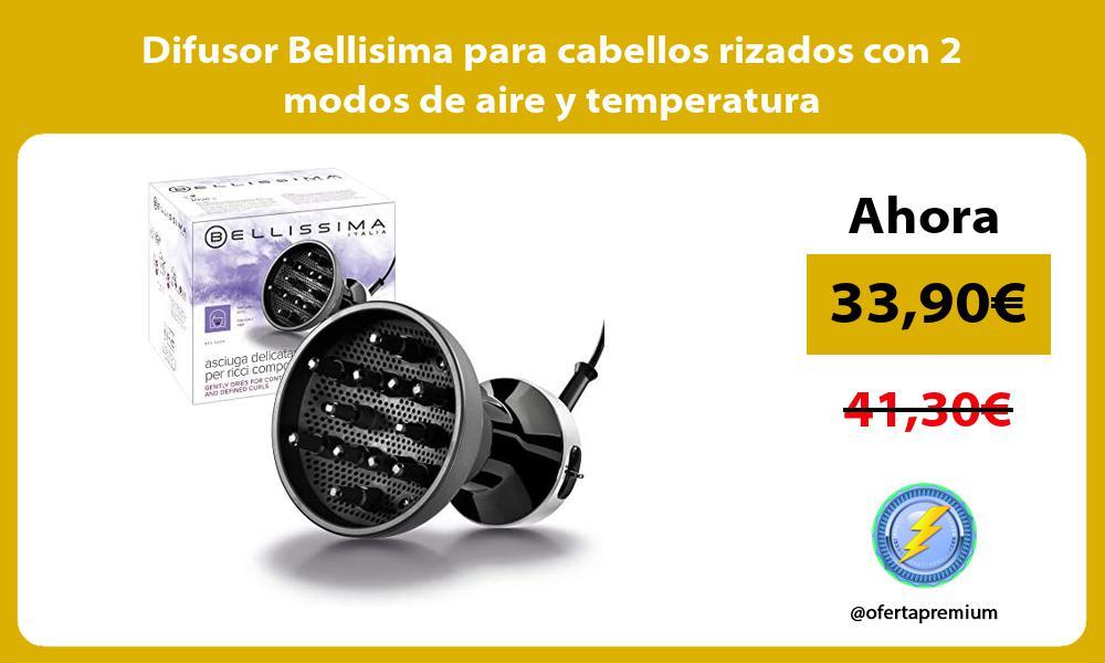 Difusor Bellisima para cabellos rizados con 2 modos de aire y temperatura