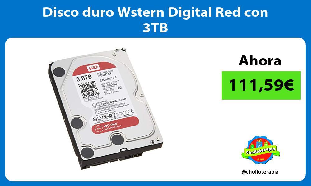 Disco duro Wstern Digital Red con 3TB