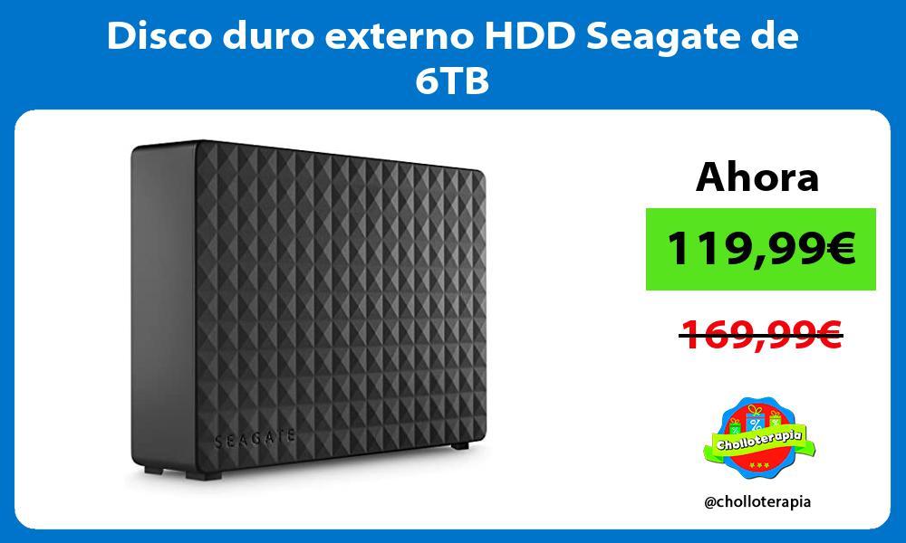 Disco duro externo HDD Seagate de 6TB