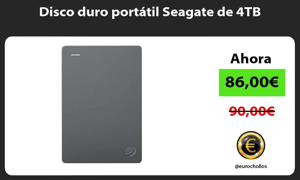 Disco duro portátil Seagate de 4TB