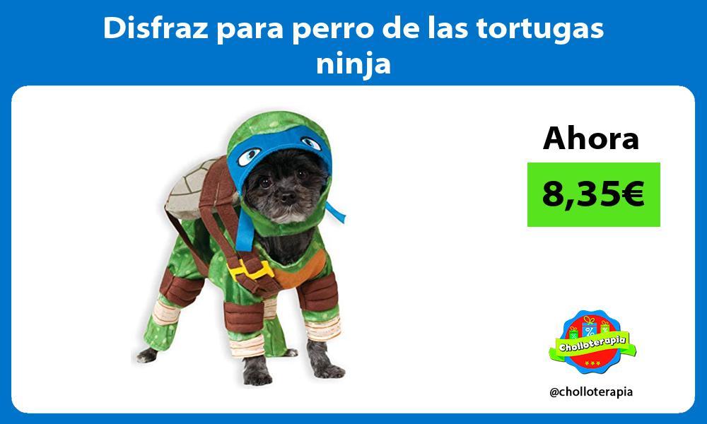 Disfraz para perro de las tortugas ninja
