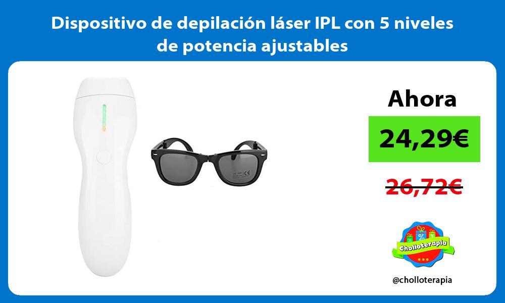 Dispositivo de depilación láser IPL con 5 niveles de potencia ajustables