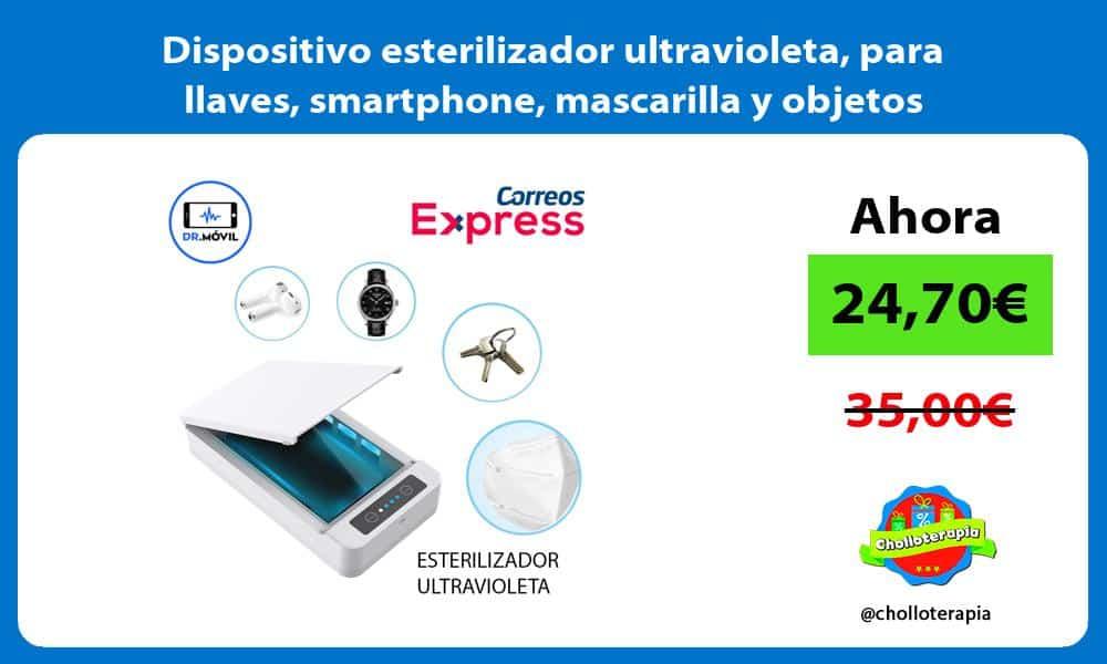 Dispositivo esterilizador ultravioleta para llaves smartphone mascarilla y objetos personales