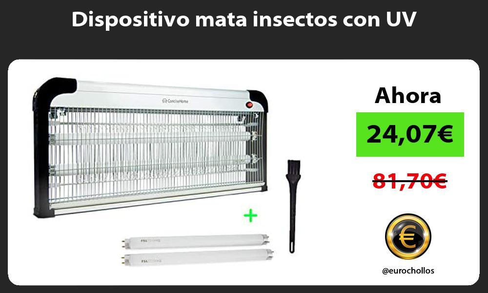 Dispositivo mata insectos con UV