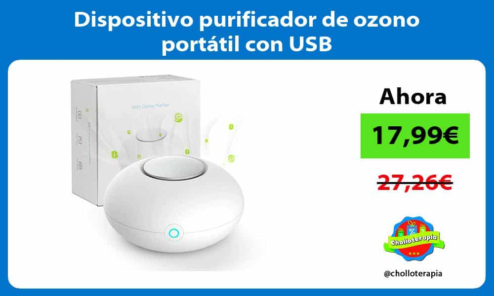 Dispositivo purificador de ozono portátil con USB