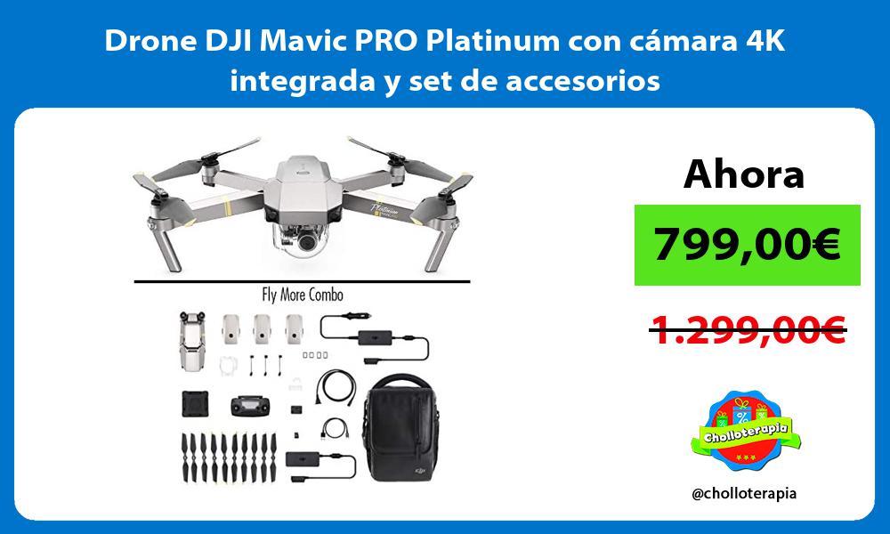 Drone DJI Mavic PRO Platinum con cámara 4K integrada y set de accesorios