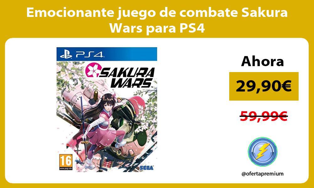 Emocionante juego de combate Sakura Wars para PS4
