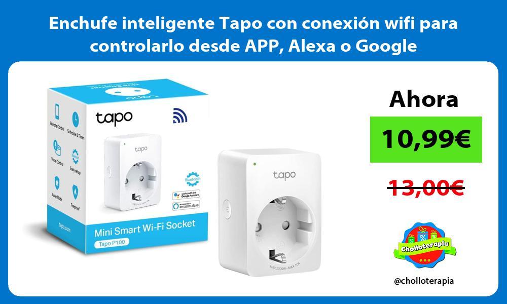 Enchufe inteligente Tapo con conexión wifi para controlarlo desde APP Alexa o Google