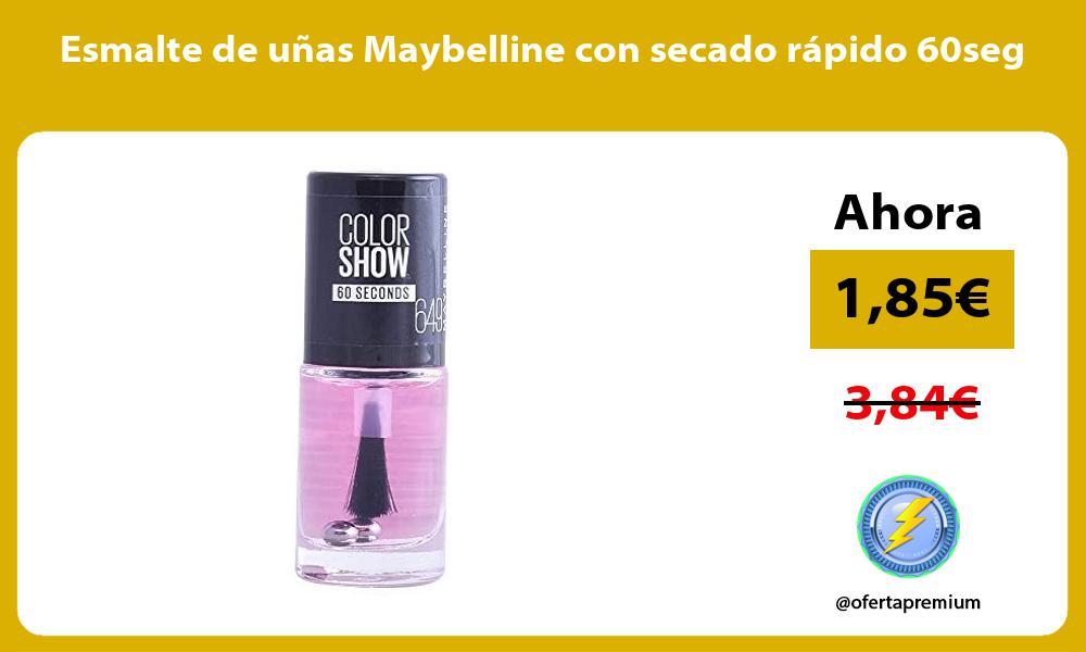 Esmalte de uñas Maybelline con secado rápido 60seg