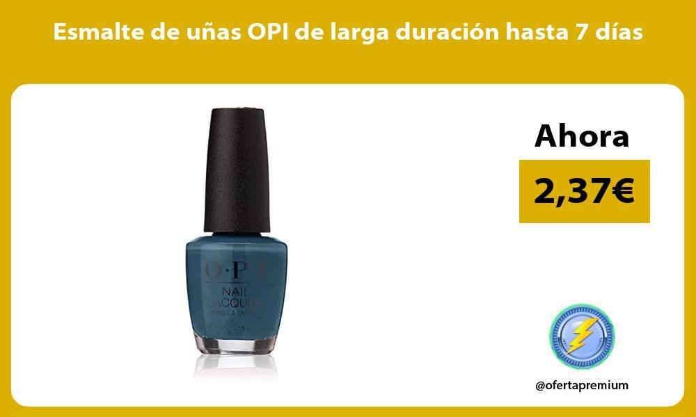 Esmalte de uñas OPI de larga duración hasta 7 días