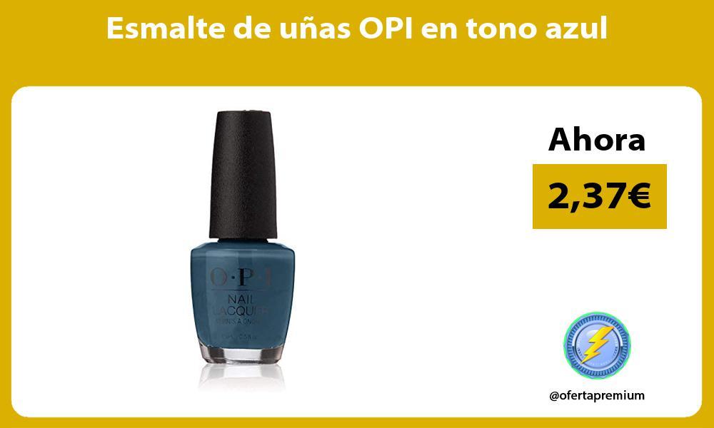 Esmalte de uñas OPI en tono azul