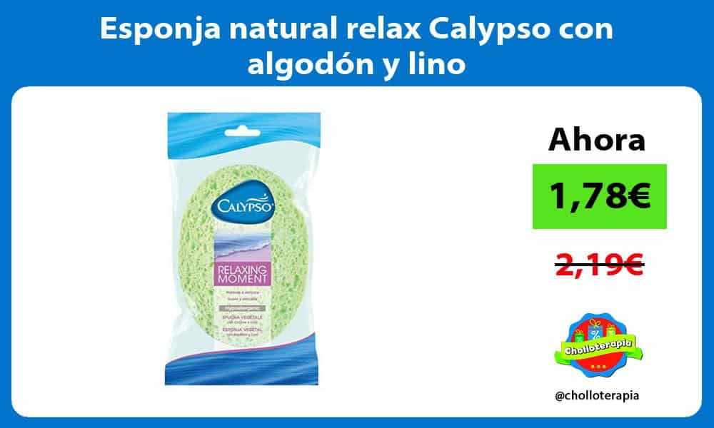 Esponja natural relax Calypso con algodón y lino
