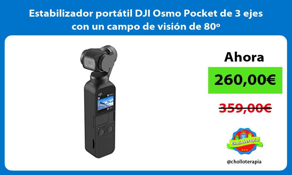 Estabilizador portátil DJI Osmo Pocket de 3 ejes con un campo de visión de 80º